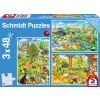 Bauernhof Puzzle 3x48 Teile