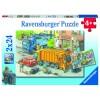 Müllabfuhr und Abschleppwagen 2x24 Teile