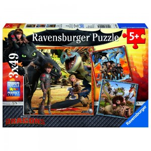 DR: Drachenreiter 3 x 49 Teile Puzzle