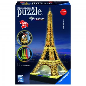 Eiffelturm bei Nacht 3D Puzzle-Bauwerke