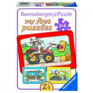 Bagger, Traktor und Kipplader My first Puzzles