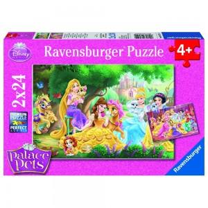 DPP: Beste Freunde der Prinzessinnen 2 x 24 Teile Puzzle