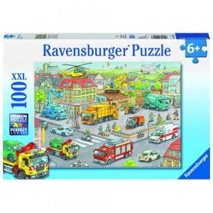 Fahrzeuge in der Stadt Puzzle 100 Teile XXL