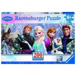 DFZ: Arendelle im ewigen Eis - Panoramapuzzle 200 Teile XXL