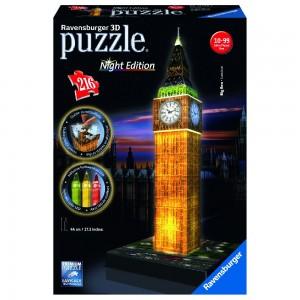 Big Ben bei Nacht 3D Puzzle-Bauwerke