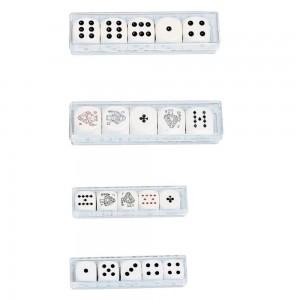 Pokerwürfel 16 mm (5 Stk.) WÜRFELPOKER
