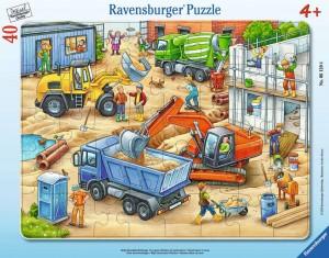 Große Baustellenfahrzeuge 30-48 Teile Rahmenpuzzle