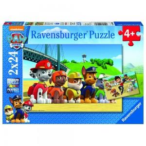 PAW: Heldenhafte Hunde Puzzle 2 x 24 Teile