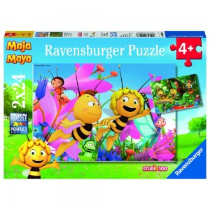 BM: Die kleine Biene Maja 2 x 24 Teile Puzzle