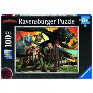 Dragons - Drachenfreunde Puzzle 100 Teile XXL