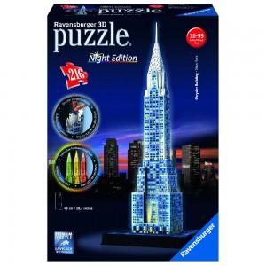 Chrysler Building bei Nacht 3D Puzzle-Bauwerke