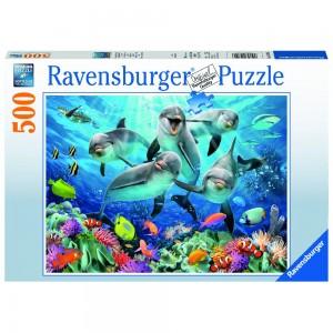 Delfine im Korallenriff 500 Teile Puzzle