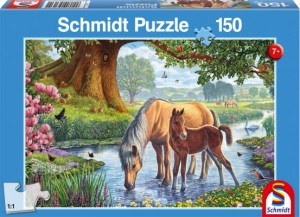 Pferde am Bach Puzzle 150 TEILE