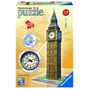 Big Ben mit Uhr 3D Puzzle-Bauwerke