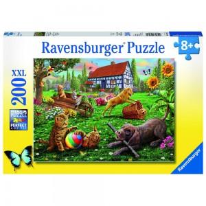 Entdecker auf vier Pfoten Puzzle 200 Teile XXL