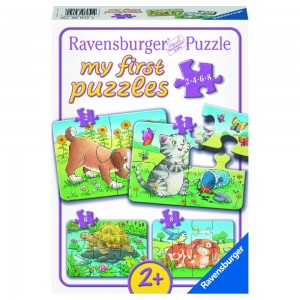 Niedliche Haustiere 2,4,6,8 Teile My first puzzles