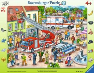 110, 112 - Eilt herbei! 24 Teile Rahmenpuzzle