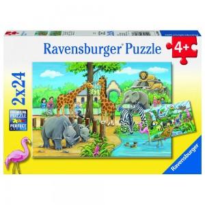 Willkommen im Zoo Puzzle 2 x 24 Teile