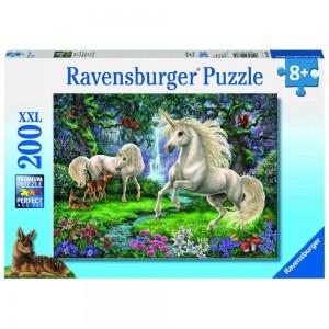 Geheimnisvolle Einhörner Puzzle 200 Teile XXL