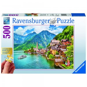 Hallstatt in Österreich Puzzle 500 Teile Gold Edition