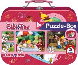 Bibi & Tina, Puzzle-Box, 2x100, 2x150 Teile im Metallkoffer