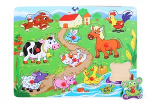 HOLZ-PUZZLE TIERE 10-TLG. 130747A