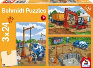Auf der Baustelle Puzzle 3x24 TEILE
