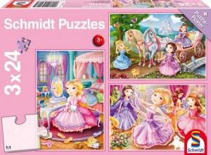 Märchenhafte Prinzessin Puzzle 3x24 TEILE