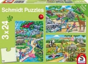 Ein Tag im Zoo Puzzle 3x24 TEILE