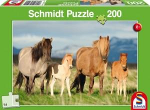 Pferdefamilie Puzzle 200 TEILE