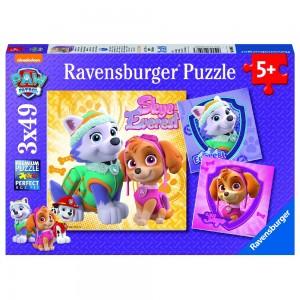PAW: Bezaubernde Hundemädchen Puzzle 3 x 49 Teile