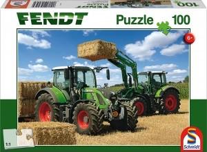 724 Vario, Fendt 716 Vario mit Frontlader Cargo 4x85, Puzzle 100 Teile