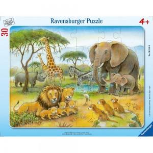 Afrikas Tierwelt 30-48 Teile Rahmenpuzzle