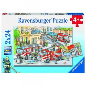 Helden im Einsatz 2 x 24 Teile Puzzle