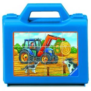 Fahrzeuge auf dem Bauernhof 12 Teile Würfelpuzzle