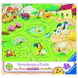 Kleiner Bauernhof Puzzle 7-10 Teile