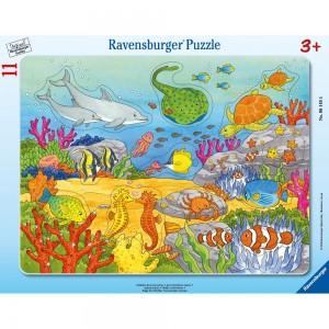 Fröhliche Meeresbewohner 8-17 Teile Rahmenpuzzle