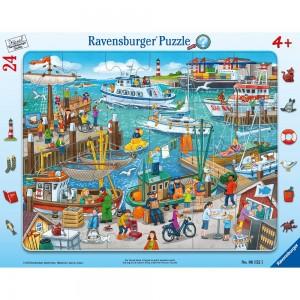 Ein Tag am Hafen 24 Teile Rahmenpuzzle