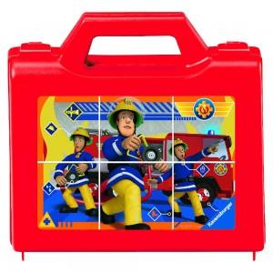 FS: Sam, der tapfere Feuerwehrmann 6 Teile Würfelpuzzle
