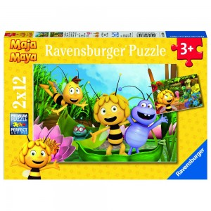 Ausflug mit Biene Maja 2 x 12 Teile Puzzle