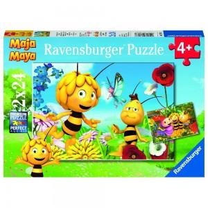 Biene Maja und ihre Freunde 2 x 24 Teile Puzzle
