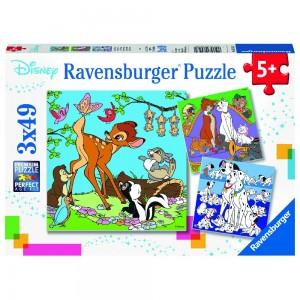 WD: Disney Freunde 3 x 49 Teile Puzzle