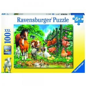 Versammlung der Tiere Puzzle 100 Teile XXL