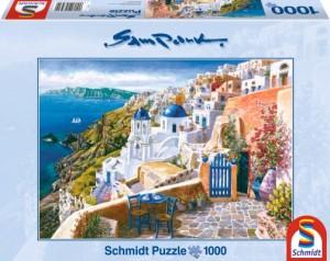 Blick von Santorin Puzzle 1000 Teile SAM PARK