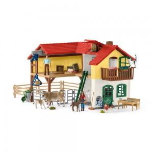 Bauernhaus mit Stall und Tieren Schleich Farm World 42407