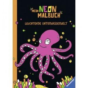 Mein Neon Malbuch: Unterwasserwelt