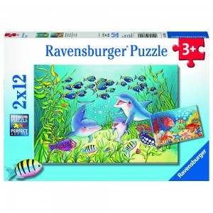 Auf dem Meeresgrund 2 x 12 Teile Puzzle