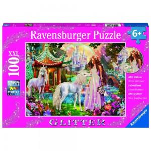 Im Reich der Blütenkönigin, Puzzle 100 Teile Glitzer