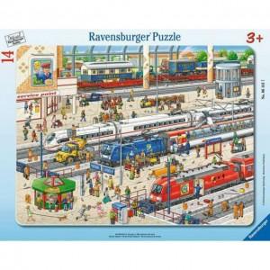 Am Bahnhof 8-17 Teile Rahmenpuzzle