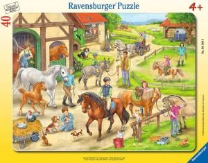 Auf dem Pferdehof Rahmenpuzzle 30-48 Teile